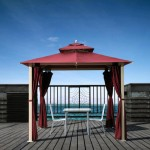 Red porch awning